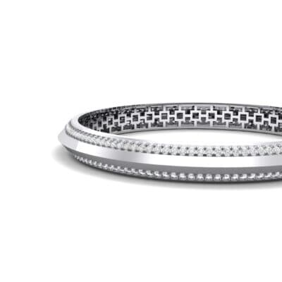 Pave Knife-Edge Crystal Bangle (3.97 CTW) Top Dynamic View
