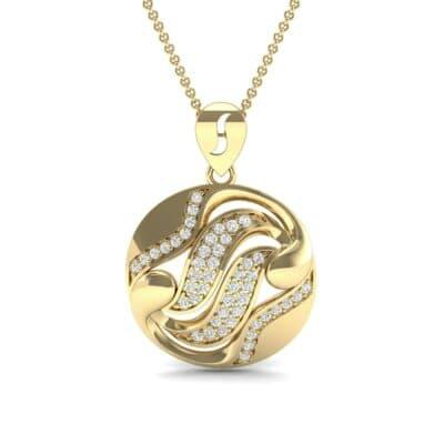 Tigress Circle Diamond Pendant (0.31 CTW) Top Dynamic View