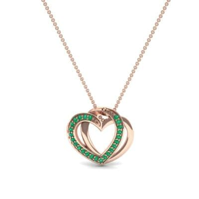 Pave Interlace Emerald Necklace (0.18 CTW) Top Dynamic View
