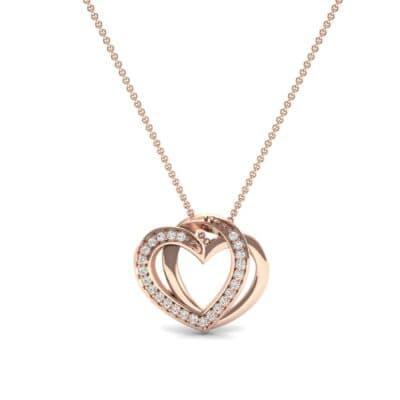 Pave Interlace Diamond Necklace (0.18 CTW) Top Dynamic View