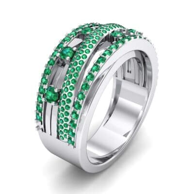 Twist Medley Emerald Ring (1.09 CTW)