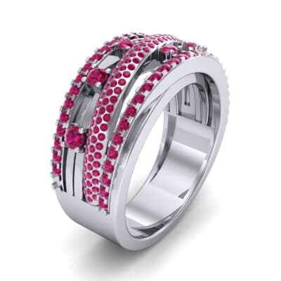 Twist Medley Ruby Ring (1.09 CTW)