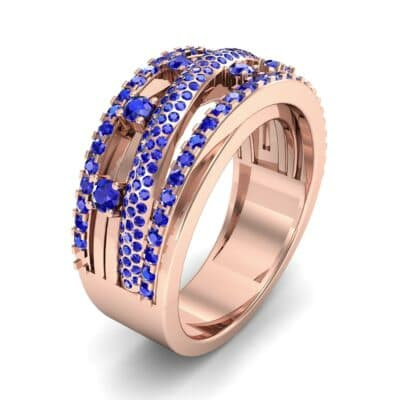 Twist Medley Blue Sapphire Ring (1.09 CTW)