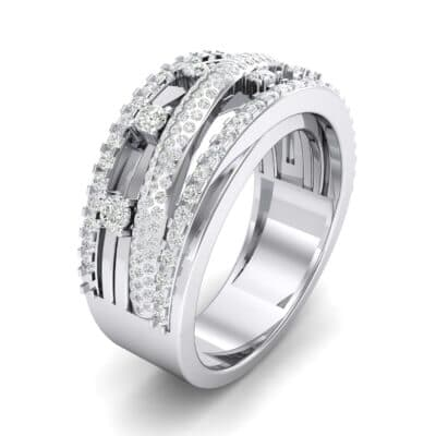 Twist Medley Diamond Ring (1.09 CTW)