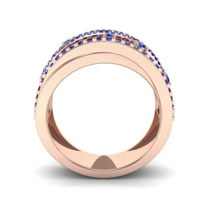 Twist Medley Blue Sapphire Ring (1.09 CTW) Side View