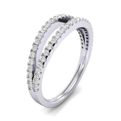 Pave Split Band Diamond Ring (0.36 CTW) Perspective View
