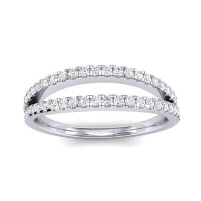 Pave Split Band Diamond Ring (0.36 CTW) Top Dynamic View