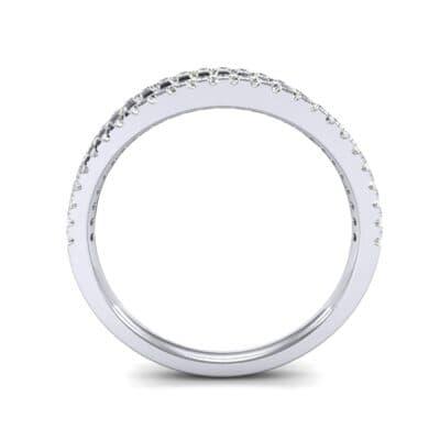 Pave Split Band Diamond Ring (0.36 CTW) Side View