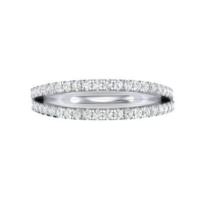 Pave Split Band Diamond Ring (0.36 CTW) Top Flat View