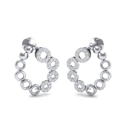 Half-Pave Eyelet Diamond Earrings (0.44 CTW) Perspective View