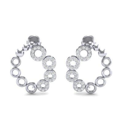 Half-Pave Eyelet Diamond Earrings (0.44 CTW) Side View