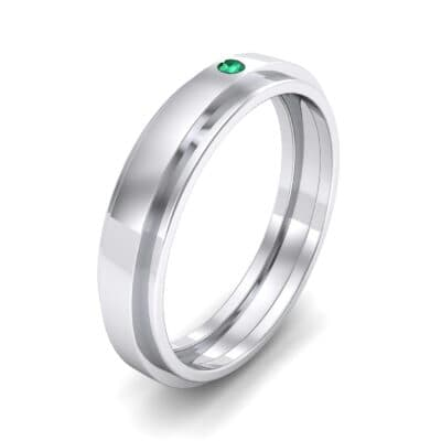 Pave Avenue Emerald Ring (0.1 CTW) Perspective View