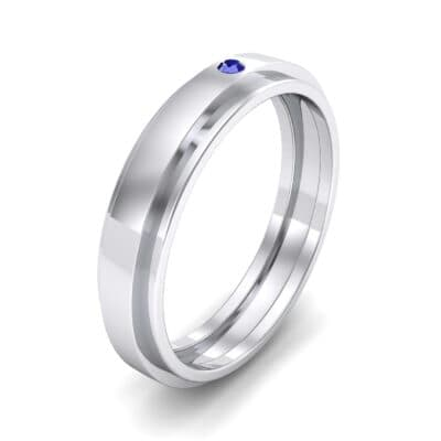 Pave Avenue Blue Sapphire Ring (0.1 CTW) Perspective View