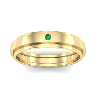 Pave Avenue Emerald Ring (0.1 CTW) Top Dynamic View