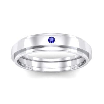 Pave Avenue Blue Sapphire Ring (0.1 CTW) Top Dynamic View