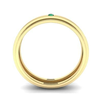 Pave Avenue Emerald Ring (0.1 CTW) Side View