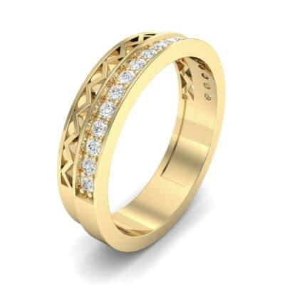 Half-Pave Lattice Diamond Ring (0.23 CTW) Perspective View