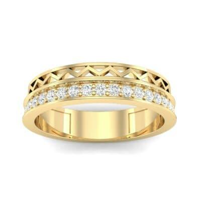 Half-Pave Lattice Diamond Ring (0.23 CTW) Top Dynamic View