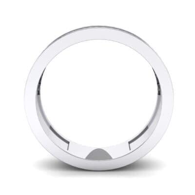 Half-Pave Lattice Blue Sapphire Ring (0.23 CTW) Side View