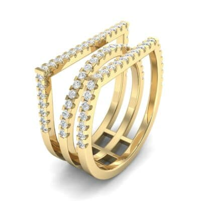 Three Row Geometry Diamond Ring (0.73 CTW)