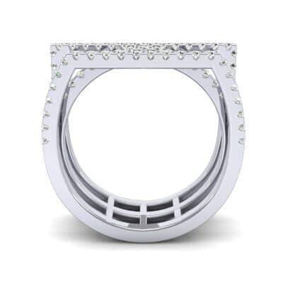Three Row Geometry Diamond Ring (0.73 CTW) Side View