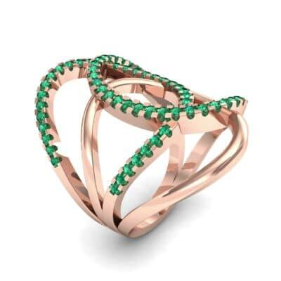 Pave Perpetua Emerald Ring (0.69 CTW)