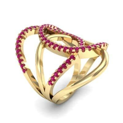 Pave Perpetua Ruby Ring (0.69 CTW)