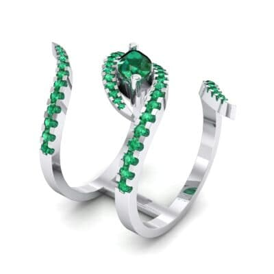 Wisp Double Band Emerald Ring (1.14 CTW)