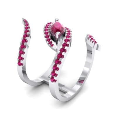 Wisp Double Band Ruby Ring (1.14 CTW)
