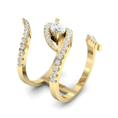 Wisp Double Band Diamond Ring (1.14 CTW)