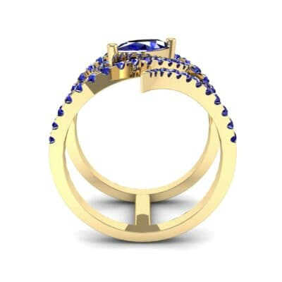 Wisp Double Band Blue Sapphire Ring (1.14 CTW) Side View