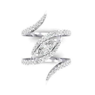 Wisp Double Band Diamond Ring (1.14 CTW) Top Flat View