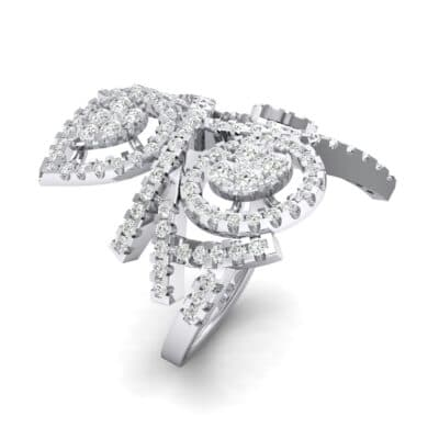 Pave Peacock Diamond Ring (1.32 CTW)