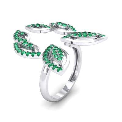 Pave Apollo Emerald Ring (0.78 CTW)