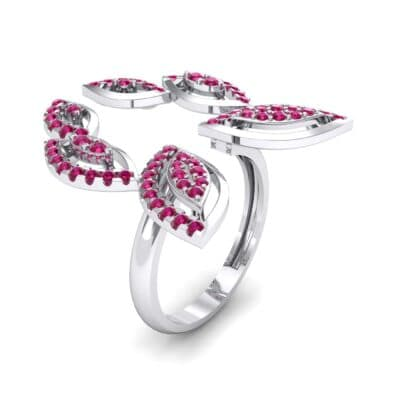 Pave Apollo Ruby Ring (0.78 CTW)