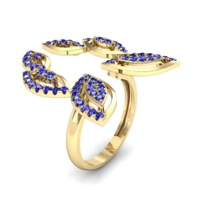 Pave Apollo Blue Sapphire Ring (0.78 CTW)
