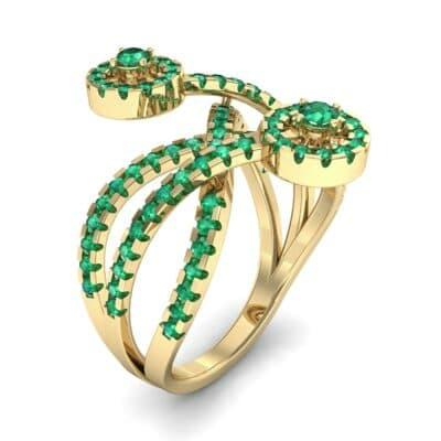 Split Band Raja Emerald Ring (0.94 CTW)