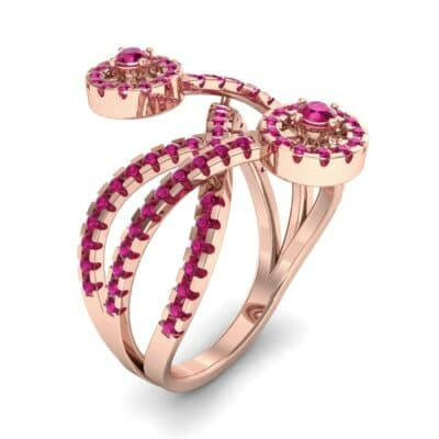 Split Band Raja Ruby Ring (0.94 CTW)
