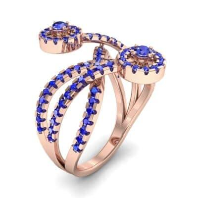 Split Band Raja Blue Sapphire Ring (0.94 CTW)