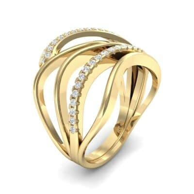 Pave Quintain Diamond Ring (0.27 CTW)
