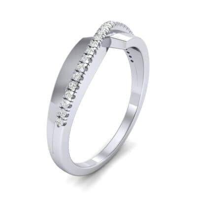 Curved Pave Blade Diamond Ring (0.13 CTW)