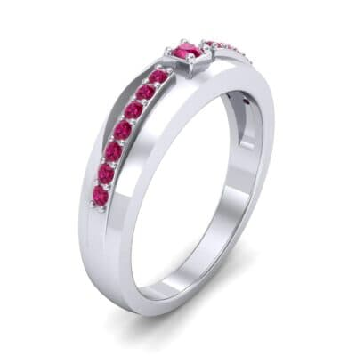 Wide Tapered Ruby Ring (0.18 CTW)