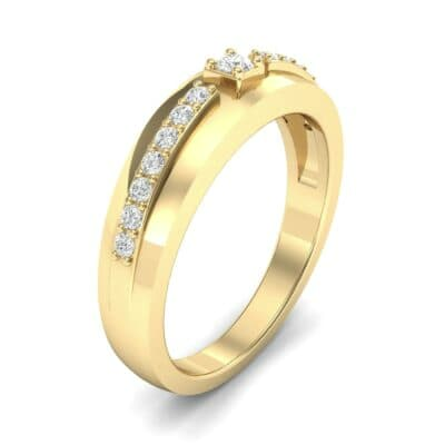 Wide Tapered Diamond Ring (0.18 CTW)