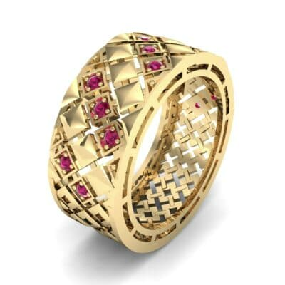 Square Lattice Ruby Ring (0.2 CTW)