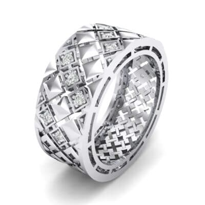 Square Lattice Diamond Ring (0.2 CTW)