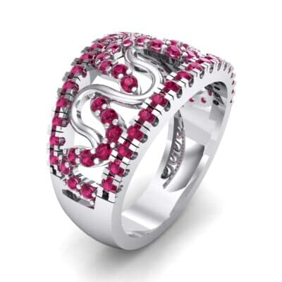 Pave Winding Ruby Ring (0.99 CTW)