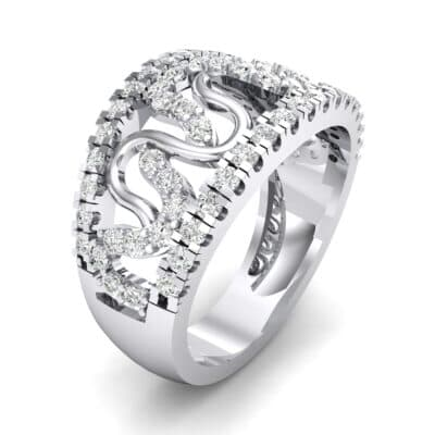 Pave Winding Crystal Ring (0.99 CTW)