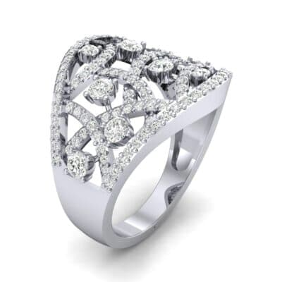 Pave Jigsaw Diamond Ring (1.07 CTW)