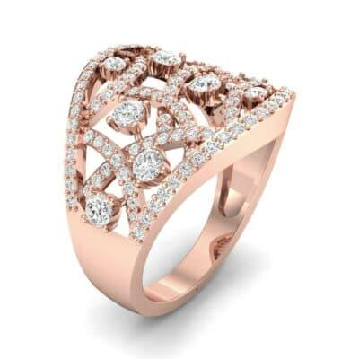 Pave Jigsaw Diamond Ring (1.07 CTW)
