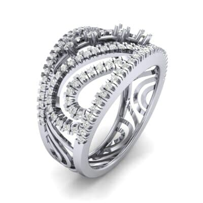 Pave Medley Diamond Ring (0.76 CTW)
